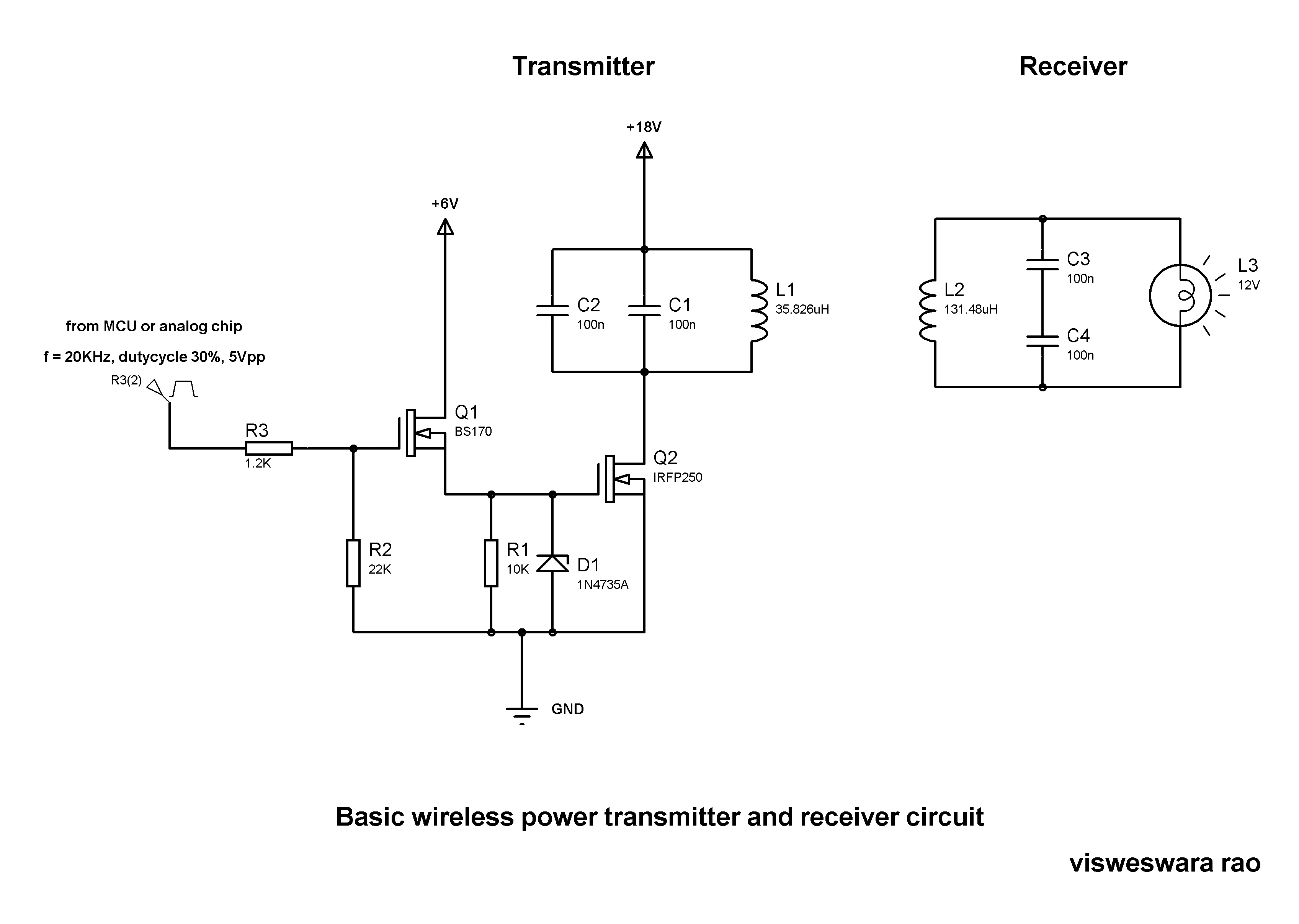 Wireless Power Transmitter And Receiver Electronics Robots Am Circuit Diagram