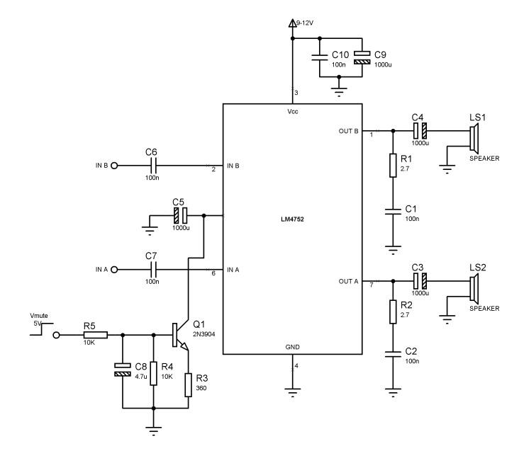 LM4752 circuit